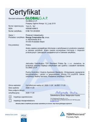 Certyfikat G.A.P
